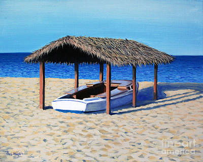 Block Island Painting - Sheltered Boat by Paul Walsh