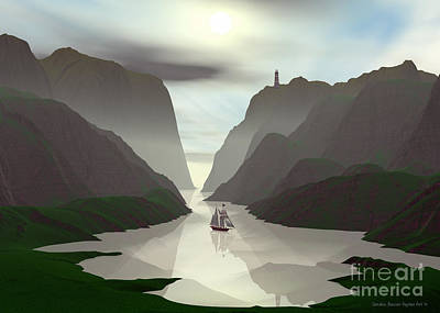 Digital Art - Sheltered Cove by Sandra Bauser Digital Art