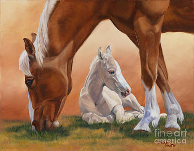 Danielle Smith Painting - Sheltered by Danielle Smith