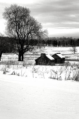 Shelters In The Snow Art Print