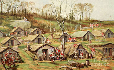Painting - Shelters Used By British And Hessian Soldiers During The American Revolutionary War by American School