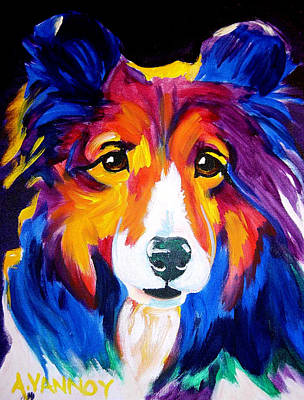 Dawgart Painting - Sheltie - Missy by Alicia VanNoy Call