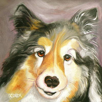 Painting - Sheltie Pie by Susan A Becker