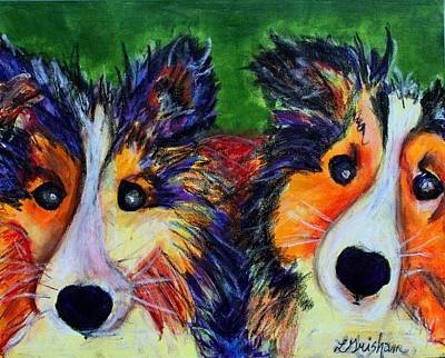 Painting - Sheltie- Whisper And Secret by Laura  Grisham