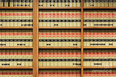 Law Books Photograph - Shelves Of Law Books by Jeremy Woodhouse