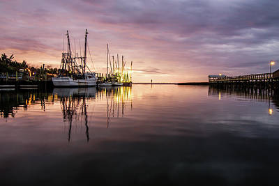 Photograph - Shem Creek At Sunset by Serge Skiba