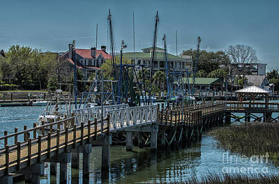 Photograph - Shem Creek Dock by Dale Powell