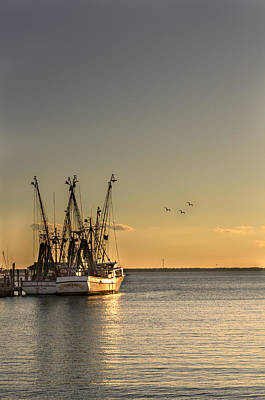 Shem Creek Fishing Boats - Charleston Sc  Art Print by Drew Castelhano