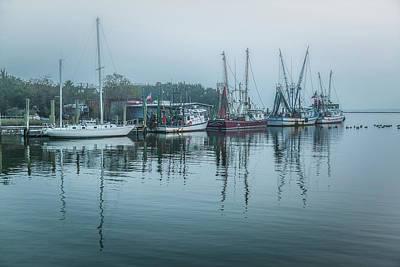Photograph - Shem Creek Fog by Donnie Whitaker