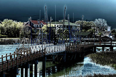 Photograph - Shem Creek Ghost by Dale Powell