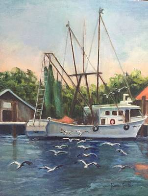 Painting - Shem Creek  by Gloria Smith