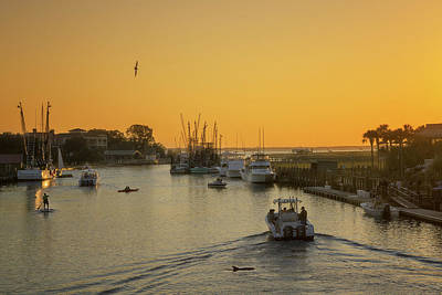 Photograph - Shem Creek In Mount Pleasant, South Carolina by Darylann Leonard Photography