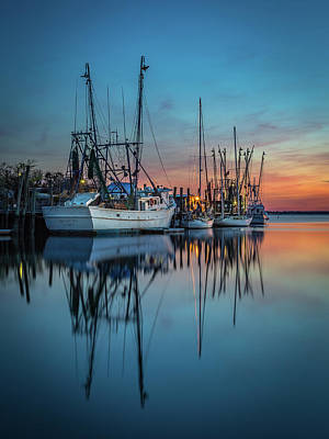 Photograph - Shem Creek Lineup - Shem Creek by Donnie Whitaker