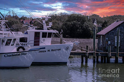 Photograph - Shem Creek Majestic Sky by Dale Powell