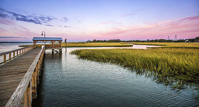 Photograph - Shem Creek Park At Dawn by Donnie Whitaker