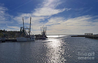 Blue Highway Photograph - Shem Creek by Skip Willits