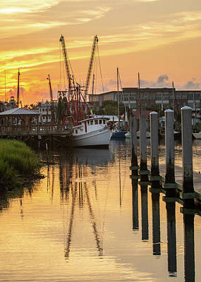 Photograph - Shem Creek Sunrise by Donnie Whitaker