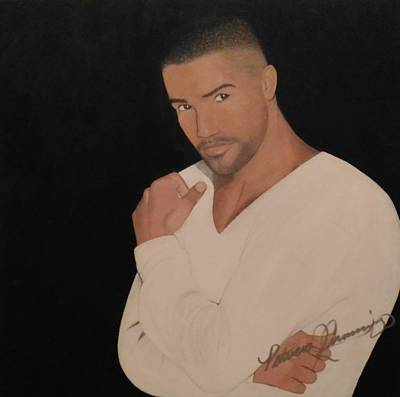 Painting - Shemar Moore by Patricia Brewer-Cummings