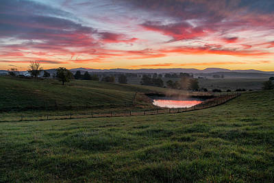 Photograph - Shenandoah Farm Sunrise by Kevin Blackburn
