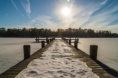Frozen Lake Photograph - Shenandoah by Kristopher Schoenleber