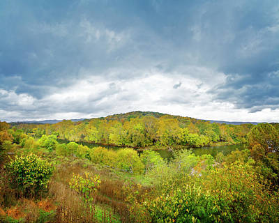 Photograph - Shenandoah River Panorama by Mark Andrew Thomas