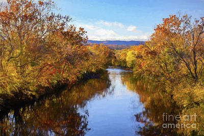 Digital Art - Shenandoah River Valley Autumn Painting by Mary Raderstorf
