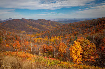 Photograph - Shenandoah Skyline by Ross Henton