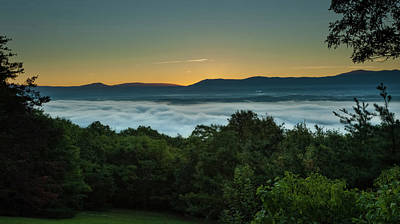 Photograph - Shenandoah Sunrise Pre-dawn Glow by Lara Ellis
