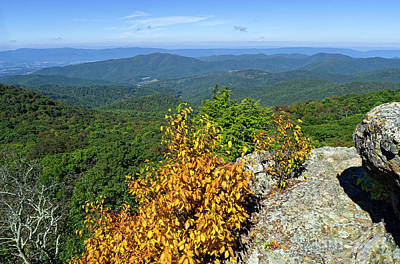 Photograph - Shenandoah Valley From Bearfence Mountain, Snp, Virginia -70909 by John Bald