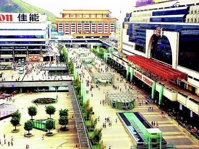 Photograph - Shenzhen China Railway Station by Joseph Hollingsworth