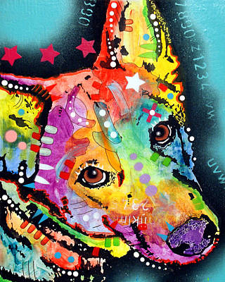 Pitbull Painting - Shep by Dean Russo