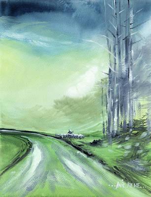 Painting - Shepherd 2 by Anil Nene