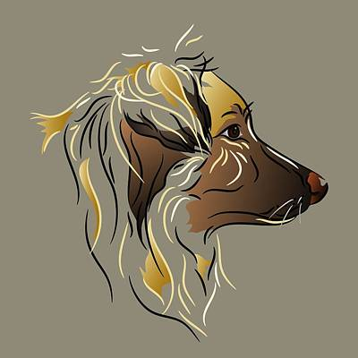 Digital Art - Shepherd Dog In Profile by MM Anderson