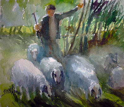 Painting - Shepherd... by Faruk Koksal