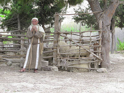 Photograph - Shepherd In Nazareth by Donna L Munro