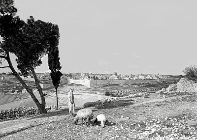 Photograph - Shepherd Of Jerusalem 1934 by Munir Alawi