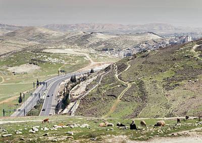 Photograph - Shepherd Overlooking Outskirts Of Jerusalem by Alexandre Rotenberg