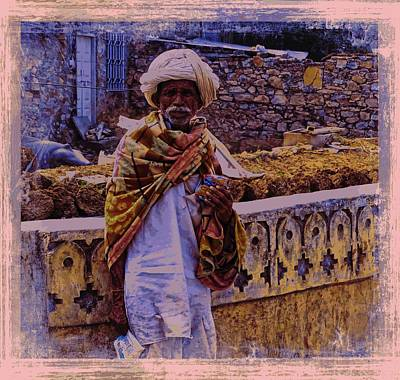 Blue Cup Of Tea Photograph - Shepherd Slice Of Life India Rajasthan 2c by Sue Jacobi