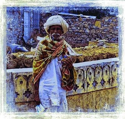 Blue Cup Of Tea Photograph - Shepherd Slice Of Life India Rajasthan Blue 2b by Sue Jacobi