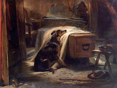 Landseer Painting - Shepherds Chief Mourner by Edwin