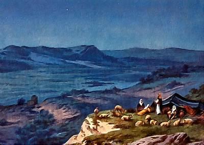 Painting - Shepherds Fields At Night by Munir Alawi