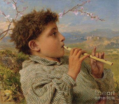 Shepherd Painting - Shepherd's Pipes by Celestial Images