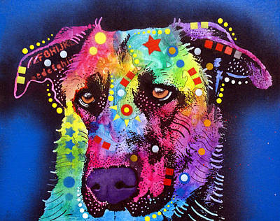Mutt Painting - Shepmix by Dean Russo