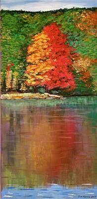 Painting - Sherando Lake Reflection by Jim Harris