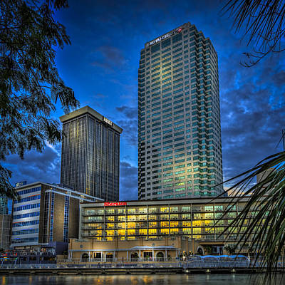 Tampa Skyline Photograph - Sheraton Water Front by Marvin Spates