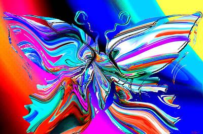 Dream Digital Art - Sherbert Butterfly by Abstract Angel Artist Stephen K