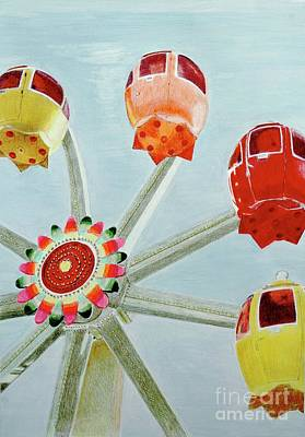 Sherbert Ferris Wheel Original by Glenda Zuckerman