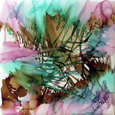 Splashy Painting - Sherbet Wings by Jo Ann Bossems