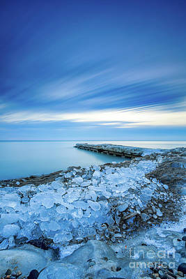 Photograph - Sheridan Ice Breakup by Andrew Slater