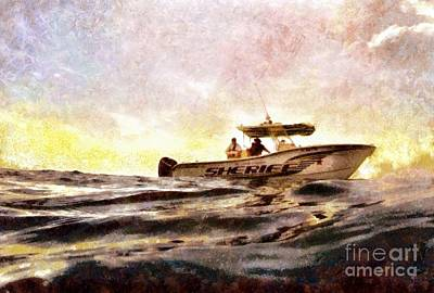 Digital Art - Sheriff At Sea - Florida by Janine Riley